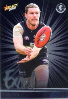 2016 AFL Footy Stars Excel Parallel #EP35 Bryce Gibbs Blues
