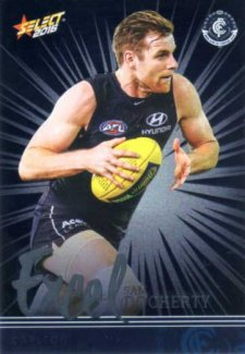 2016 AFL Footy Stars Excel Parallel #EP33 Sam Docherty Blues