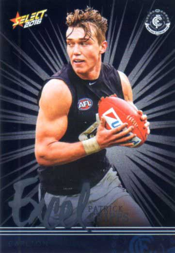 2016 AFL Footy Stars Excel Parallel #EP31 Patrick Cripps Blues