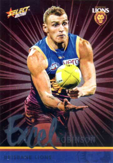 2016 AFL Footy Stars Excel Parallel #EP25 Mitch Robinson Lions