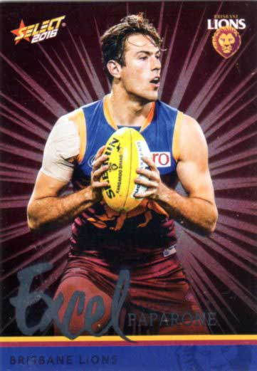 2016 AFL Footy Stars Excel Parallel #EP24 Marco Paparone Lions
