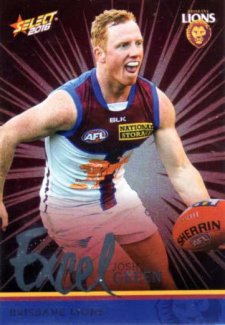 2016 AFL Footy Stars Excel Parallel #EP21 Josh Green Lions