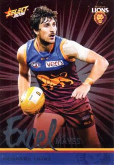 2016 AFL Footy Stars Excel Parallel #EP22 Sam Mayes Lions
