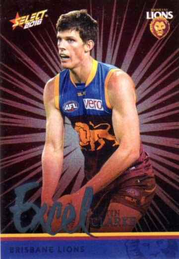 2016 AFL Footy Stars Excel Parallel #EP20 Justin Clarke Lions