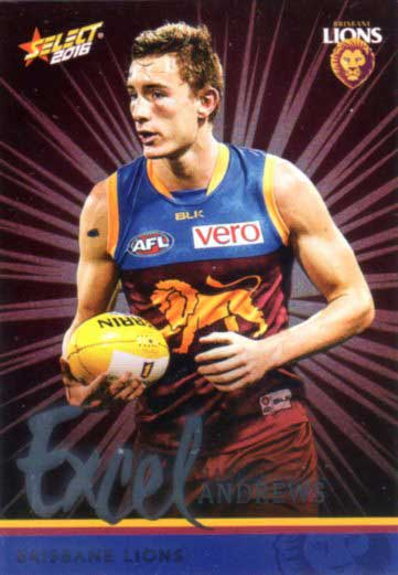 2016 AFL Footy Stars Excel Parallel #EP17 Harris Andrews Lions