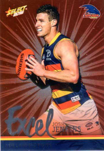 2016 AFL Footy Stars Excel Parallel #EP8 Josh Jenkins Crows