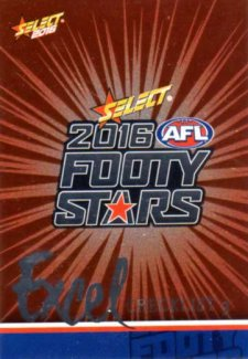 2016 AFL Footy Stars Excel Parallel #EP3 Checklist 3