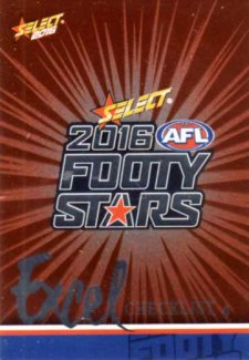 2016 AFL Footy Stars Excel Parallel #EP4 Checklist 4