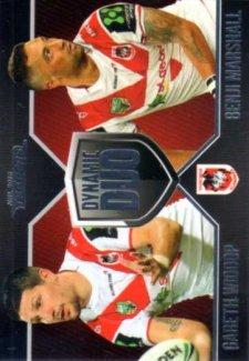 2016 NRL Traders Dynamic Duo #DD5 Gareth Widdop / Benji Marshall Dragons