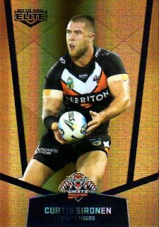 2015 NRL Elite Gold Parallel #PS142 Curtis Sironen Tigers