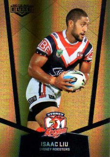 2015 NRL Elite Gold Parallel #PS123 Isaac Lui Roosters