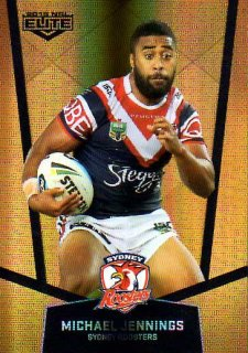 2015 NRL Elite Gold Parallel #PS121 Michael Jennings Roosters