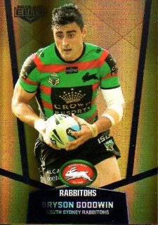 2015 NRL Elite Gold Parallel #PS100 Bryson Goodwin Rabbitohs