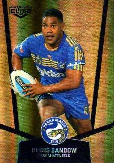 2015 NRL Elite Gold Parallel #PS88 Chris Sandow Eels