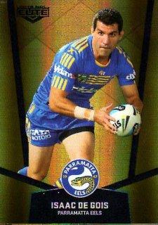 2015 NRL Elite Gold Parallel #PS83 Isaac De Gios Eels
