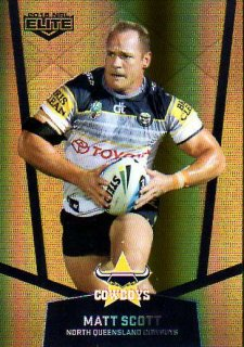 2015 NRL Elite Gold Parallel #PS79 Matt Scott Cowboys