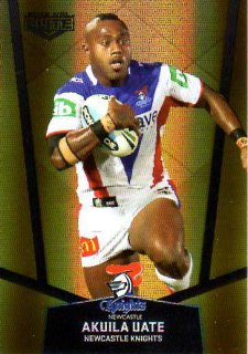 2015 NRL Elite Gold Parallel #PS72 Akuila Uate Knights