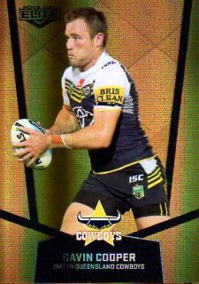 2015 NRL Elite Gold Parallel #PS73 Gavin Cooper Cowboys