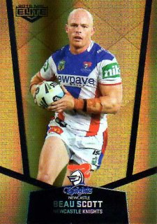 2015 NRL Elite Gold Parallel #PS69 Beau Scott Knights