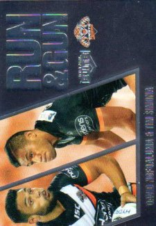 2016 NRL Elite Run & Gun Parallel #RGP31 David Nofoaluma / Tim Simona Tigers #65/100