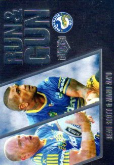 2016 NRL Elite Run & Gun Parallel #RGP20 Beau Scott / Manu Mau Eels #59/100