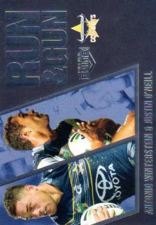 2016 NRL Elite Run & Gun Parallel #RGP17 Antonio Winterstein / Justin O'Neil Cowboys #65/100