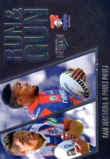 2016 NRL Elite Run & Gun Parallel #RGP16 Sam Mataora / Pauli Pauli Knights #51/100
