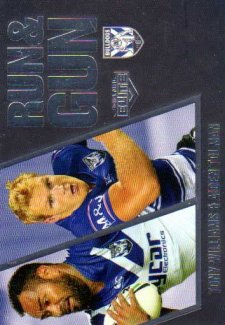 2016 NRL Elite Run & Gun Parallel #RGP6 Tony Williams / Aiden Tolman Bulldogs