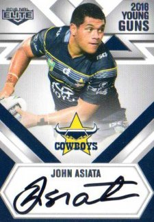 2016 NRL Elite Young Guns Signature #YG9 John Asiata Cowboys #110/130