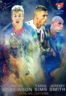 2016 NRL Elite 2016 Captains #C8 Tariq Sims / Trent Hodkinson / Jeremy Smith Knights