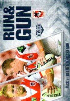 2016 NRL Elite Run & Gun #RG26 Jack De Belin / Ben Creagh Dragons