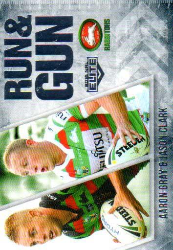 2016 NRL Elite Run & Gun #RG24 Aaron Gray / Jason Clark Rabbitohs