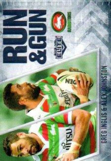 2016 NRL Elite Run & Gun #RG23 Greg Inglis / Alex Johnston Rabbitohs
