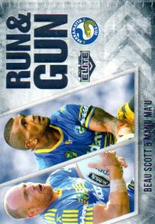 2016 NRL Elite Run & Gun #RG20 Beau Scott / Manu Mau Eels