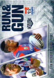 2016 NRL Elite Run & Gun #RG16 Sam Mataora / Pauli Pauli Knights