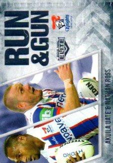 2016 NRL Elite Run & Gun #RG15 Aku Uate / Nathan Ross Knights