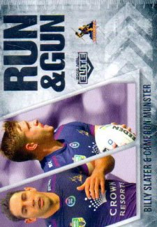 2016 NRL Elite Run & Gun #RG13 Billy Slater / Cameron Munster Storm