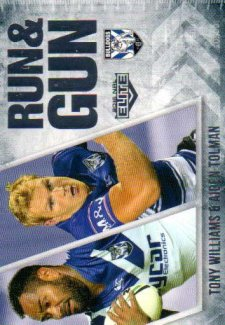 2016 NRL Elite Run & Gun #RG6 Tony Williams / Aiden Tolman Bulldogs