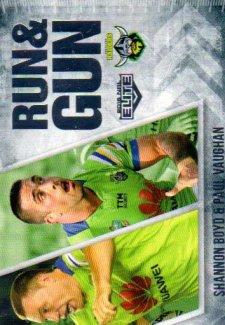 2016 NRL Elite Run & Gun #RG4 Shannon Boyd / Paul Vaughn Raiders