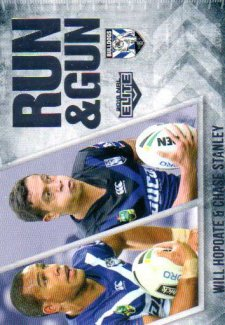 2016 NRL Elite Run & Gun #RG5 Will Hopoate / Chase Stanley Bulldogs