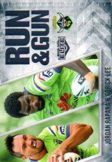2016 NRL Elite Run & Gun #RG3 Jordan Rapana / Edrick Lee Raiders