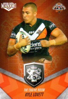 2016 NRL Elite Engine Room #ER63 Kyle Lovett Tigers
