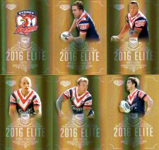 2016 NRL Elite Special Gold 12-Card Complete Team Set Sydney Roosters