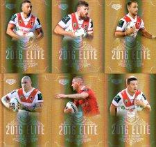 2016 NRL Elite Special Gold 12-Card Complete Team Set St.George Dragons