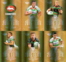 2016 NRL Elite Special Gold 12-Card Complete Team Set South Sydney Rabbitohs