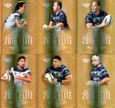 2016 NRL Elite Special Gold 12-Card Complete Team Set North Queensland Cowboys