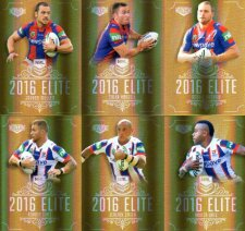 2016 NRL Elite Special Gold 12-Card Complete Team Set Newcastle Knights