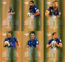 2016 NRL Elite Special Gold 12-Card Complete Team Set Melbourne Storm