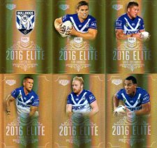 2016 NRL Elite Special Gold 12-Card Complete Team Set Canterbury Bulldogs