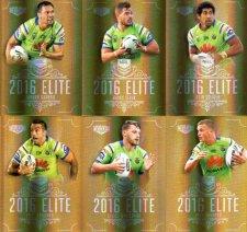 2016 NRL Elite Special Gold 12-Card Complete Team Set Canberra Raiders